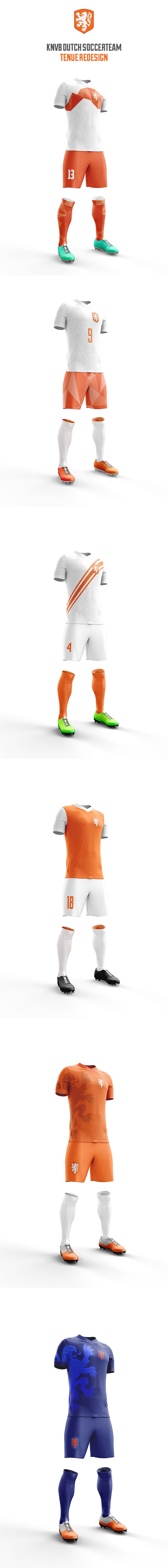 Redesign Dutch soccer tenue on Behance