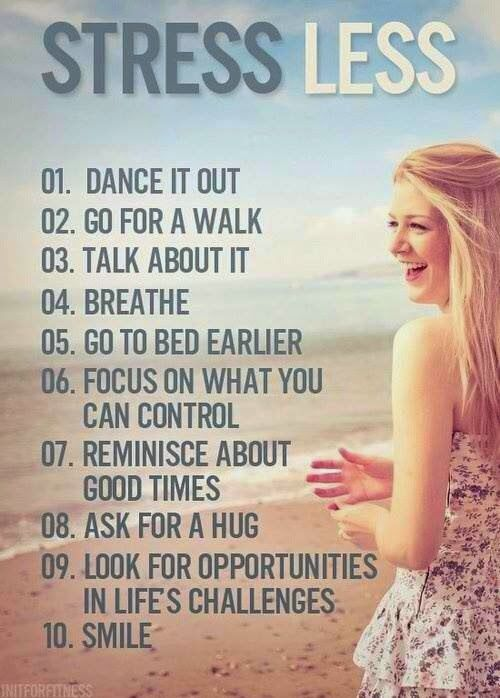 Here are 10 great ways to reduce stress!