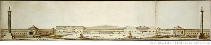 Projet pour la restauration du Château de Versailles ordonné par Monsieur le Comte D'angiviler [sic] : [élévation perspective en grand] / Boullée in.it