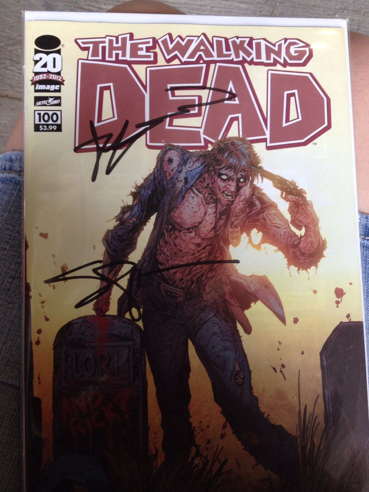 The Walking Dead issue #100 (Glenn's death) signed by Robert Kirkman & Steven Yeun. So glad to have this!! #TWD #TheWalkingDead #WalkingDead #Glenn #Comic #Comics #Autograph
