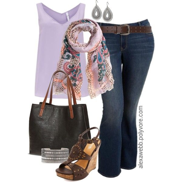 "#plus #size #outfit  ""Plus Size - Jeans & Tank"" by alexawebb on Polyvore"