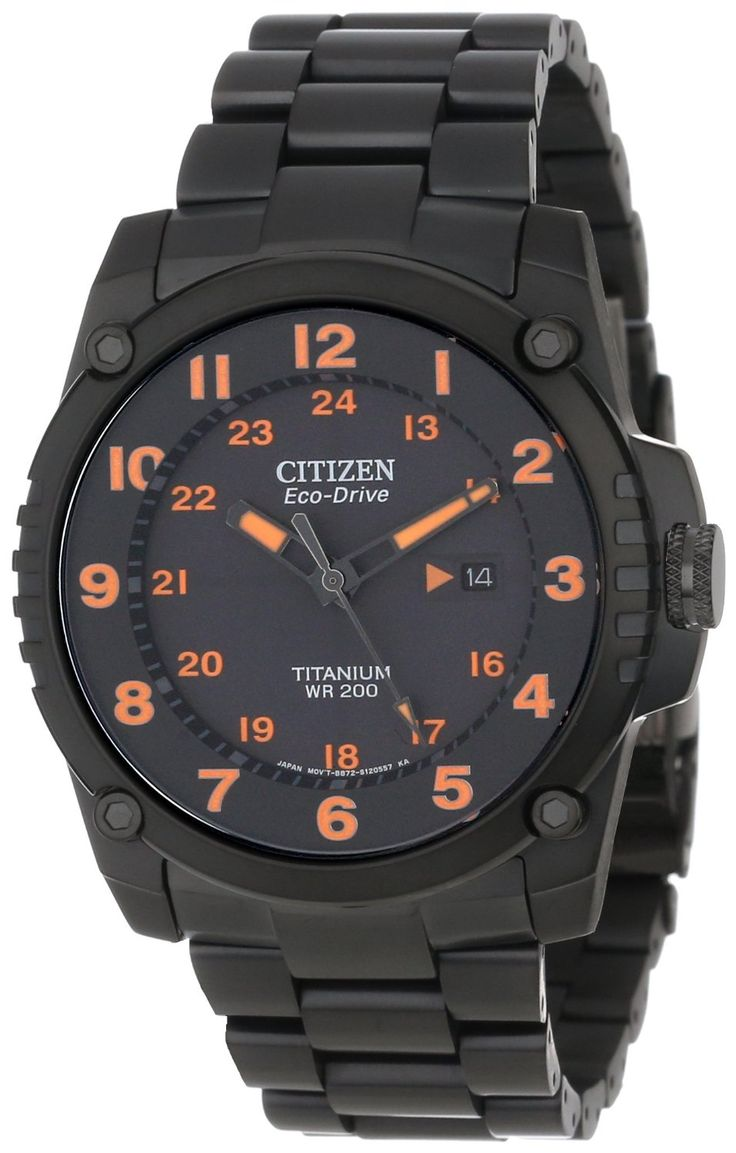 Citizen men watches : Citizen Men's BJ8075-58F Eco-Drive STX43 Shock-Proof Titanium Watch