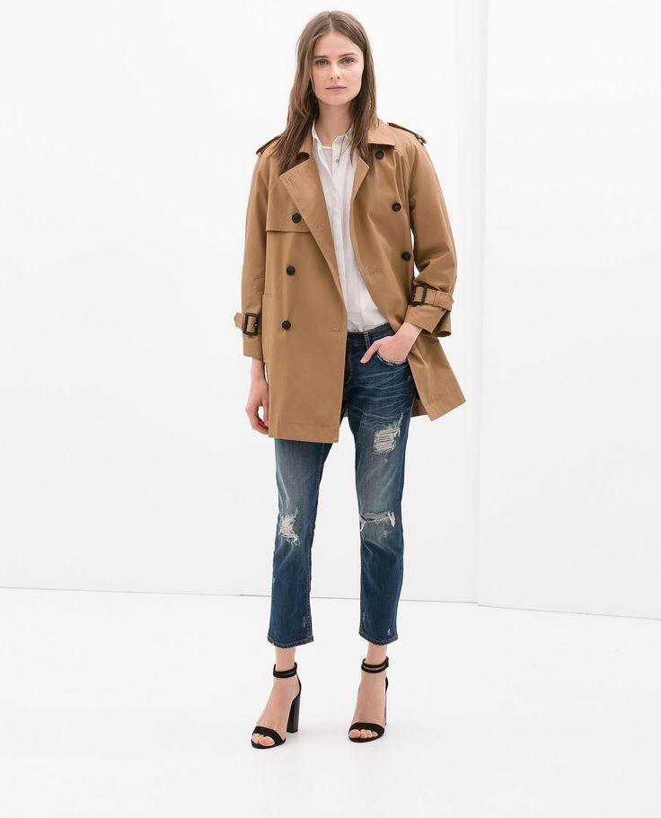 Image 1 of SHORT TRENCH COAT from Zara