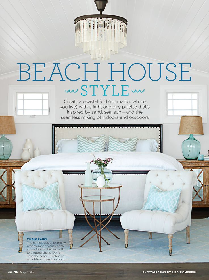 Create a coastal feel no matter where you live. Plus - 25 ways to do tangerine! (As featured in Good Housekeeping Magazine)
