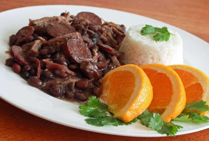 Feijoada, the national dish of Brazil.  A smoky pork and bean stew served with rice.