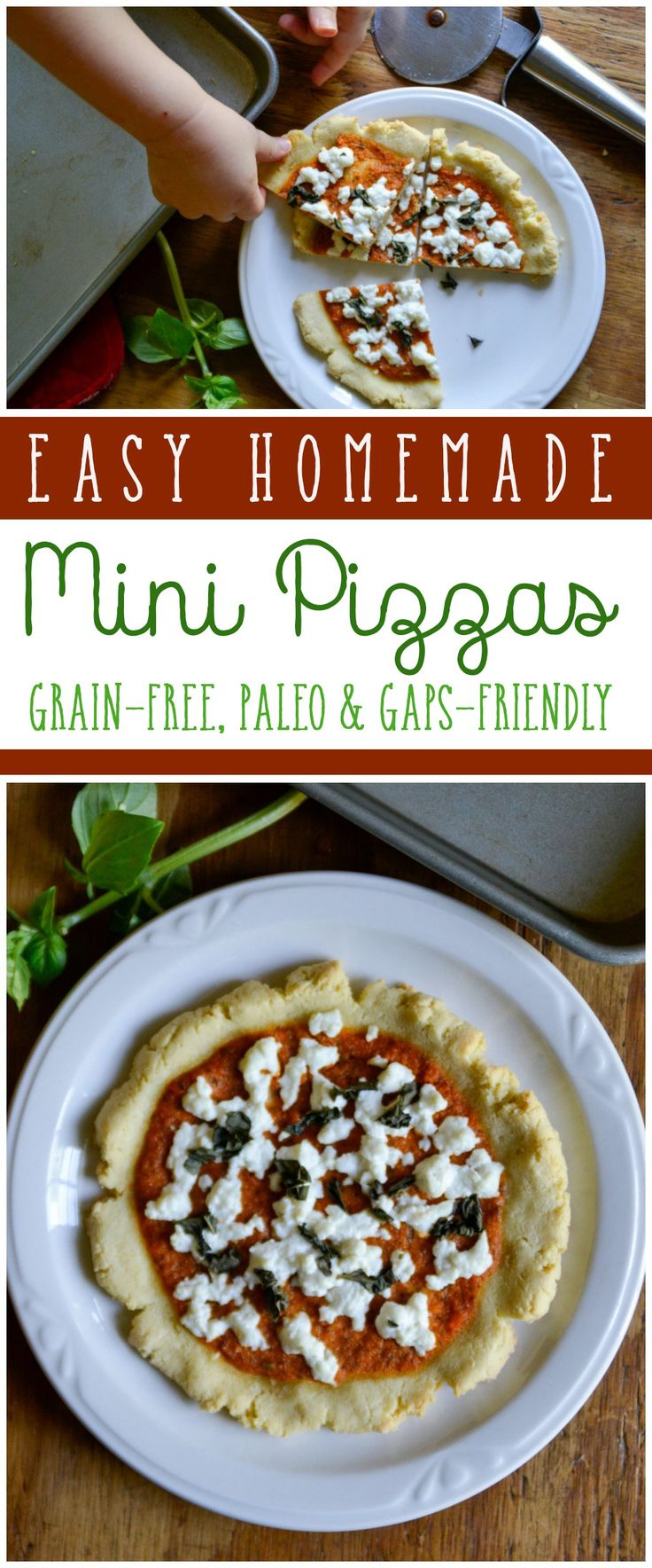 Need a quick and simple swap for regular pizzas? These easy homemade Grain-Free Mini Pizzas are for you. They're paleo and GAPS-friendly.