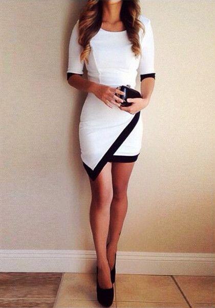 Asymmetrical Wrap Style Dress. Discover and shop the latest women fashion, celebrity, street style you love on www.zkkoo.com
