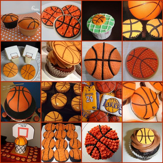 All sizes | Basketball Cupcakes | Flickr - Photo Sharing! Temática deportes Merienda Dulce