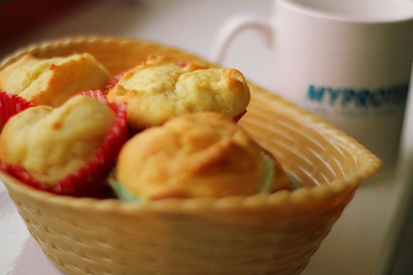 Here we have our Lemon Drizzle Muffins - a yummy, moist snack time treat with only 1g of sugar!!!