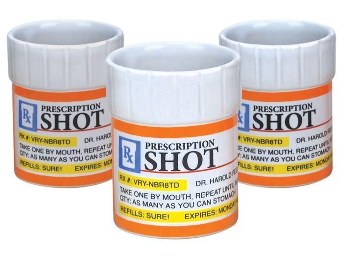 Prescription Shots Shot Glasses Set of 3