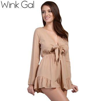 Проявить галлон детский комбинезон женщин комбинезон сексуальный глубокий v-образный вырез шорты с длинным рукавом комбинезоны комбинезоны для женщин 3195