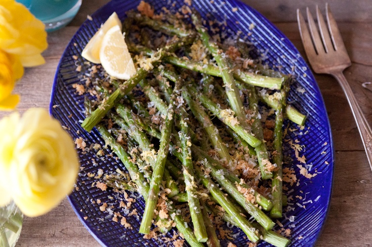 Lemon Panko Parmesan Asparagus from What's Gaby Cooking (http ...