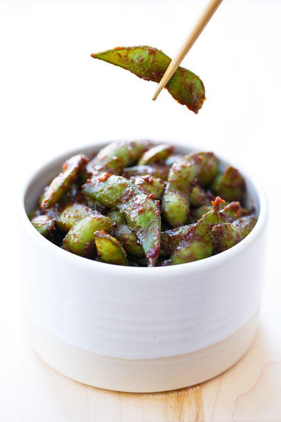 Quick & Easy Asian Appetizer - Spicy Miso Edamame Recipe