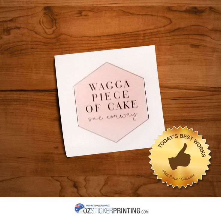 Wagga Piece Of Cake #MattPaper #Stickers (60x60mm) Grab stickers now & avail our Febulous Sale for great discounts! #matte #paperstickers #Australia