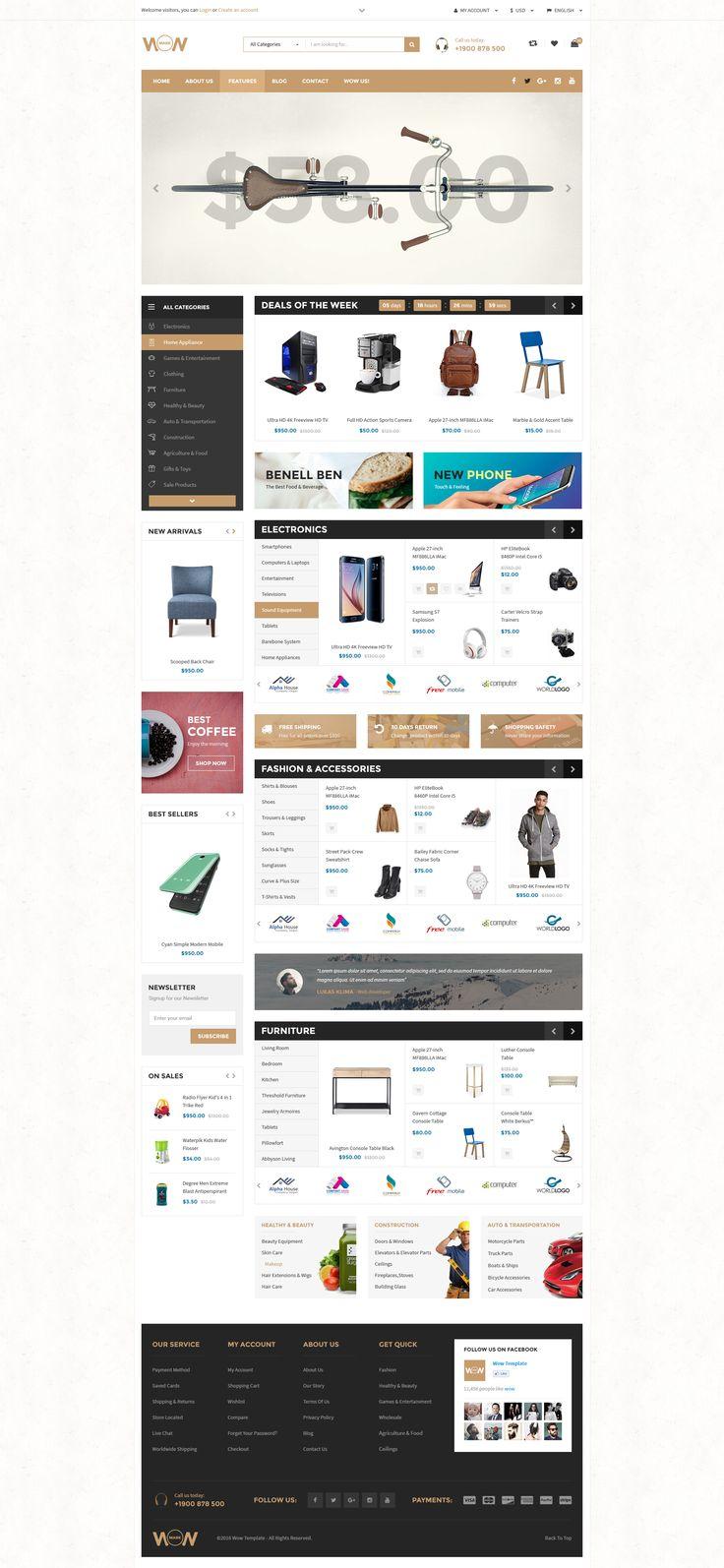 WOW - Multi-purpose E-commerce Template Marketplace Index 03
