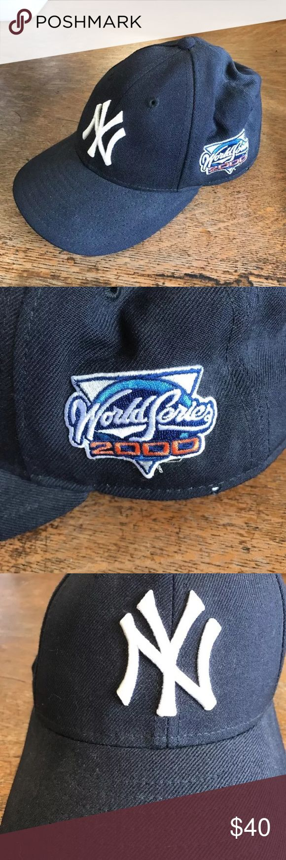 Collectors 2000 Yankees World Series fitted cap Normal wear, inside & out as seen in above pics. NEW ERA 2000 World series  Yankee baseball hat. New Era Accessories Hats
