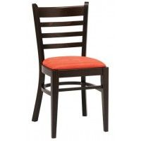 Solid Beech Restaurant Chair Upholstered