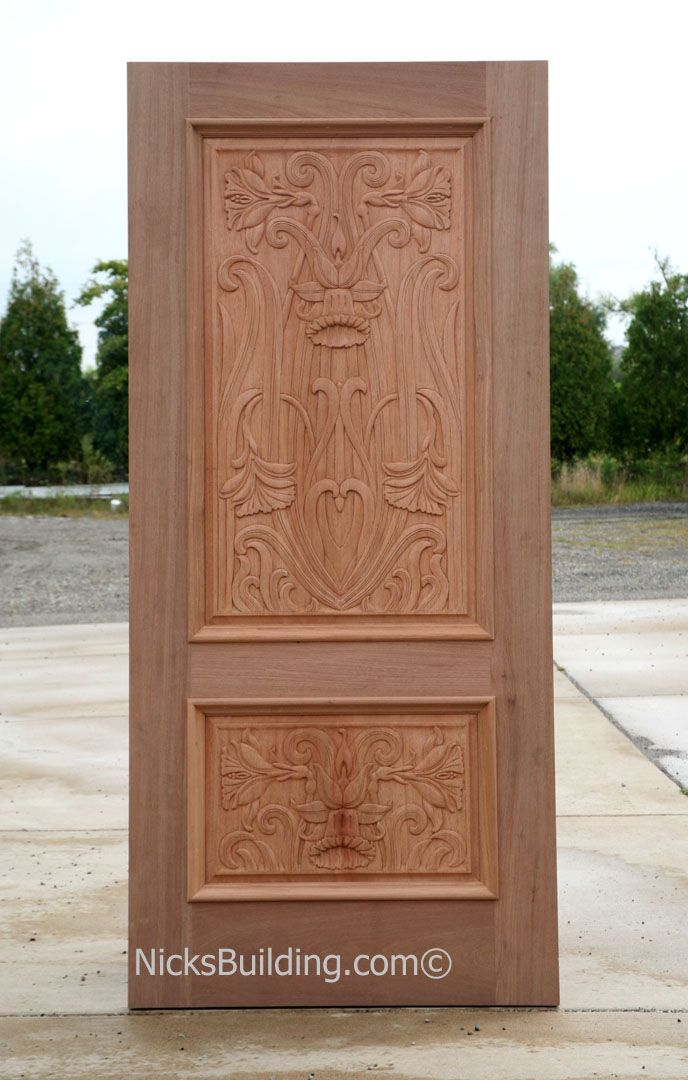 Hand carved doors hand carved mahogany doors great for Hand carved wood doors