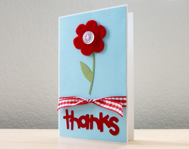 Flower Thank You, Teacher Appreciation Card | Red flowers ...