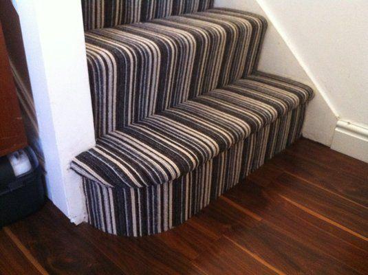 striped stair carpet?