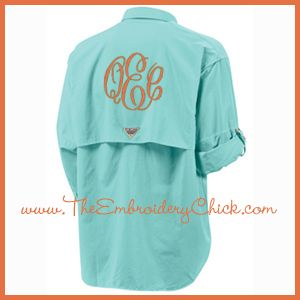 Personalized Fishing Shirt from www.TheEmbroideryChick.com.  Perfect beach cover-up!