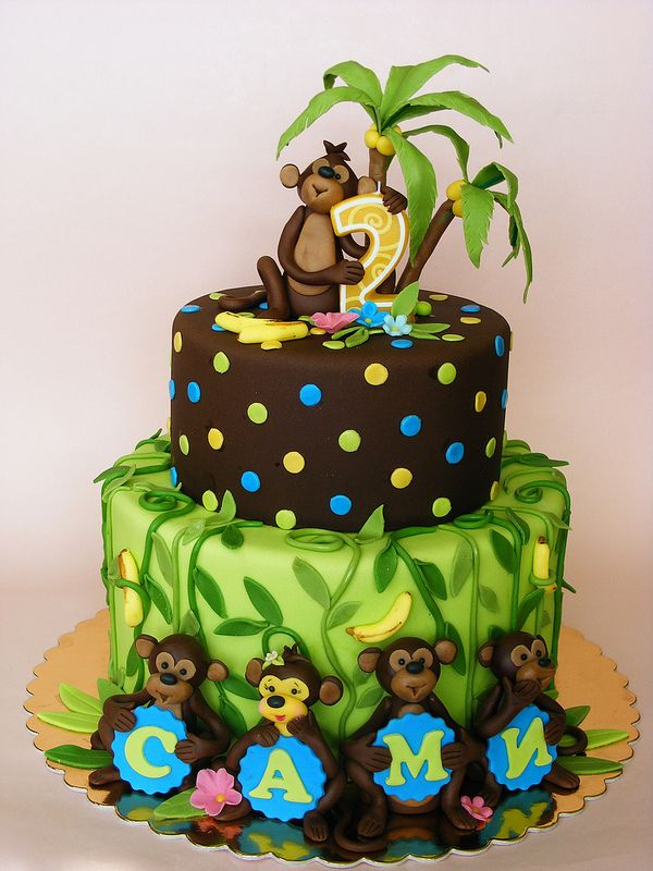 Monkey cake for Samie | JUNGLE CAKES | Pinterest