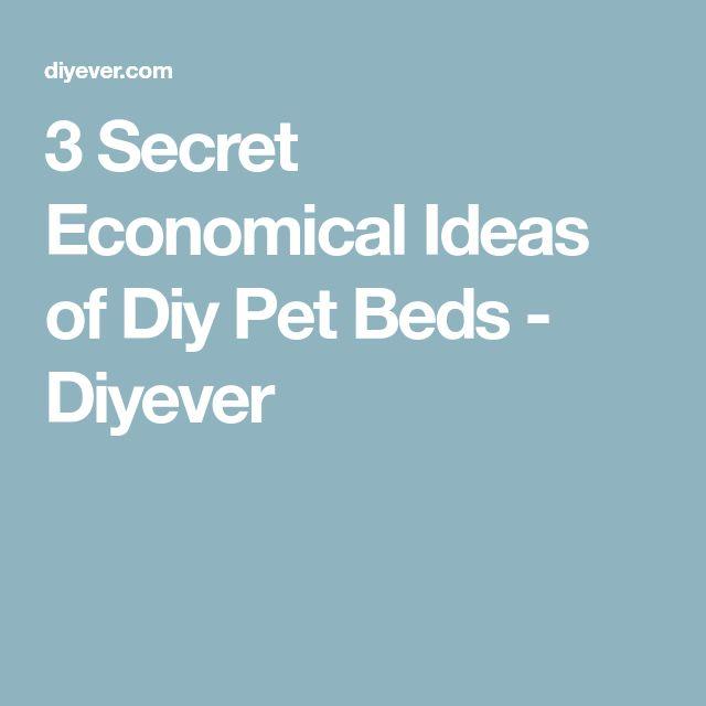 3 Secret Economical Ideas of Diy Pet Beds - Diyever