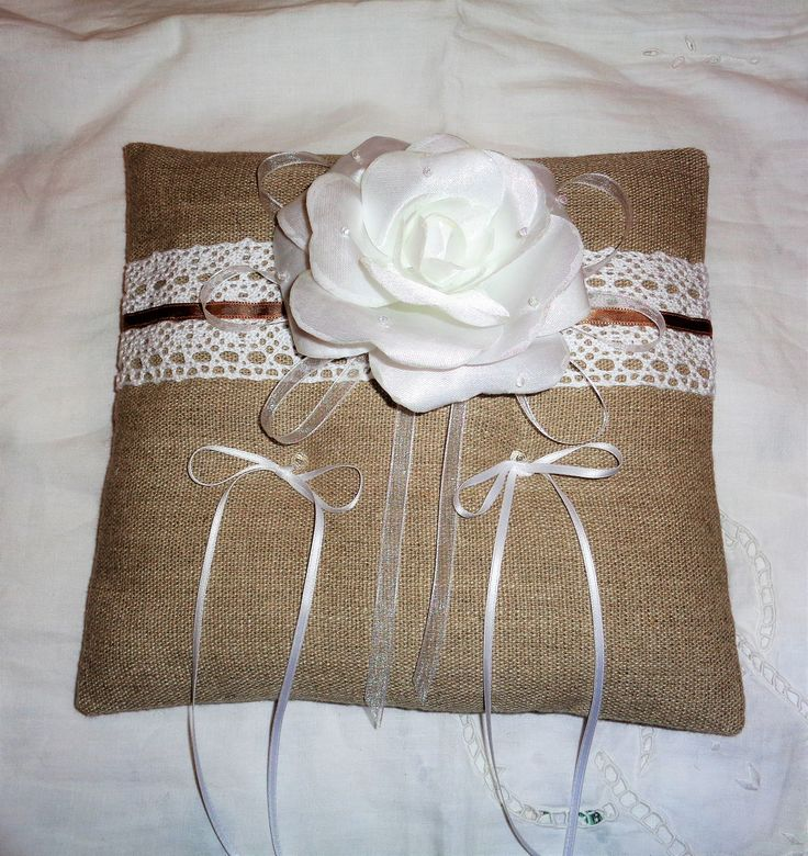 cuscino portafedi lino grezzo