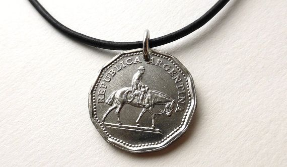 Argentina Coin necklace Coin pendant Vintage by CoinStories