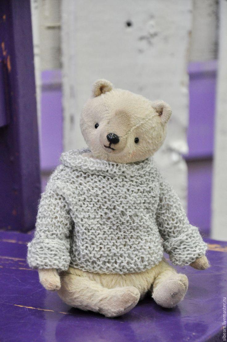 Купить Сэм - бежевый, мишка тедди, мишка ручной работы, мишка в подарок, мишка в одежке