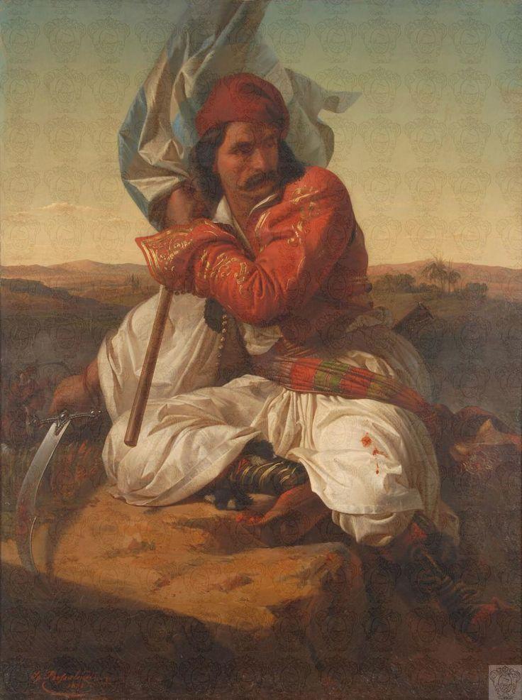 Spyridon Prosalentis (Corfu 1830 - Athens 1895) Σπυρίδων Προσαλέντης: Πολεμιστής του 1821 (1862)