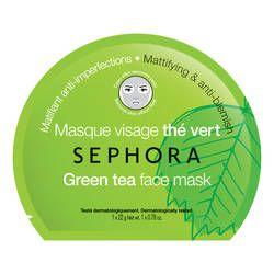 Sephora Masque visage tissu effet seconde peau Thé vert