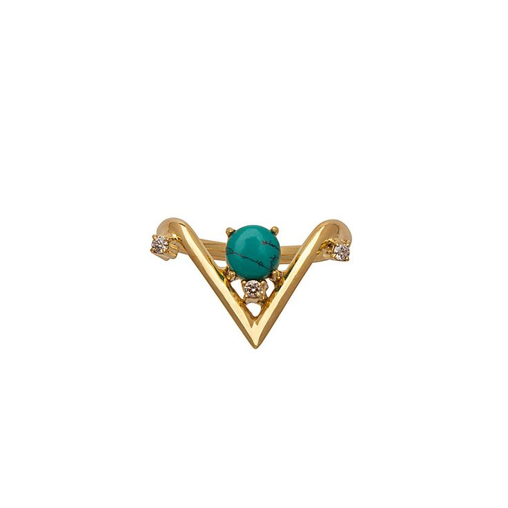 Talitha Ring / Turquoise from D A M S E L F L Y