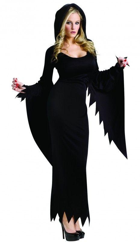 Hooded Black Vampire Costume M-L