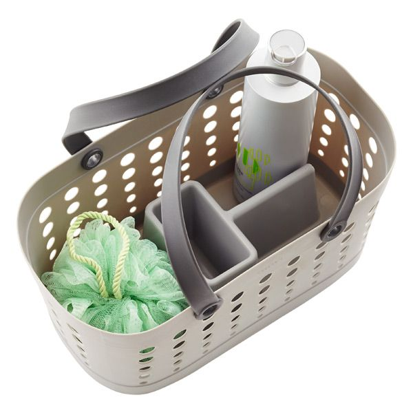 Feb 24, 2020 - Shower Tote - Grey Flexible Shower Tote by Casabella | The Container Store