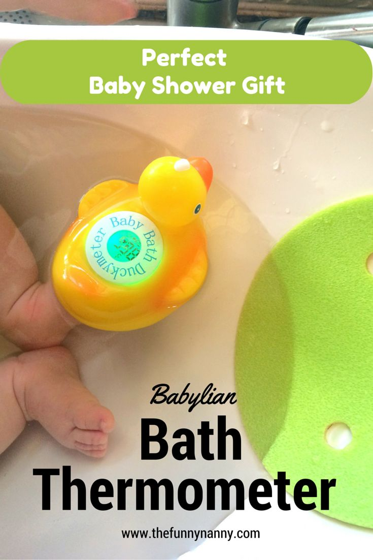 this rubber duck measures water temperature for your baby's bath. Perfect gift for your pregnant friend or mom boss - this babylian bath thermometer is perfct baby shower gift or something you can use for your kiddos and your own bubble bath!