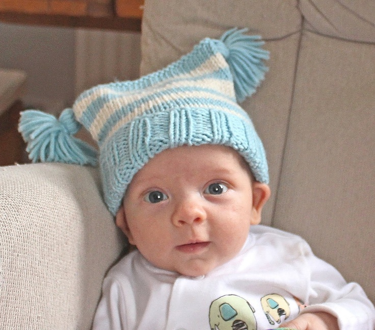 Free Easy Knitting Pattern For A Baby Tassels Hat Crafts