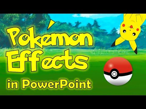 Pokemon GO Effects in PowerPoint - Cool Cartoon Animation Tutorial - YouTube