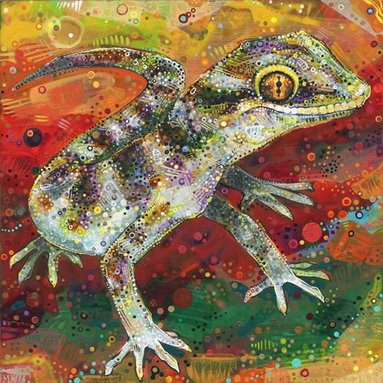 painting of a Bynoe's gecko