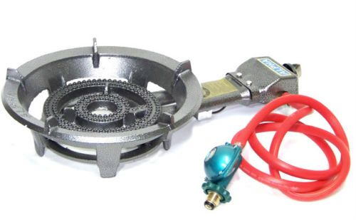 Buy Portable Gas Burner Large Stove Brass Electron Strike by ALPHA at MexGrocer.com Estufa de Gas Portatil