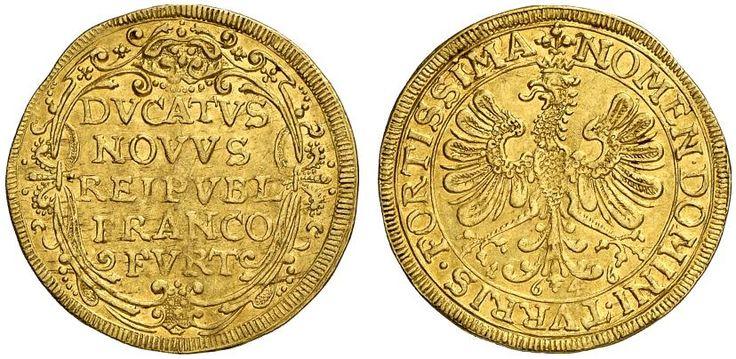 AV Ducat. Germany Coins, Frankfurt, Free City. 1646. 3,39g. F 976. Good VF. Price realized 2011: 650 USD.