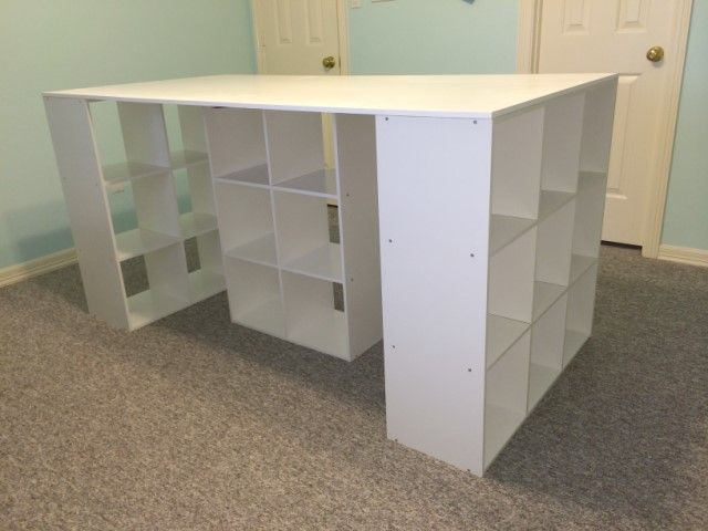 Craft Table 36 High No Power Tools Required I Did It Myself Ends Are 3x3 ClosetMaid