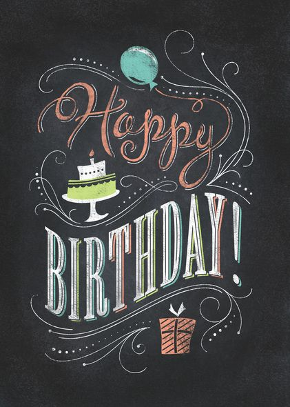 Preview image for product titled: Chalkboard Happy Birthday #compartirvideos.es #happybirthday