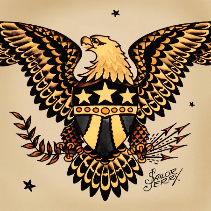 Traditional American Eagle Tattoos Jerrys eagles are fierce