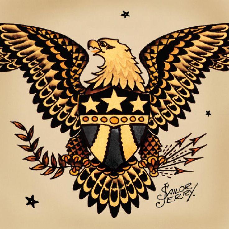 traditional american eagle tattoos wwwimgkidcom the