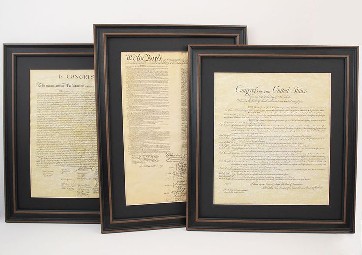 Constitution, Bill of Rights and Declaration of Independence Set of 3 (make this)