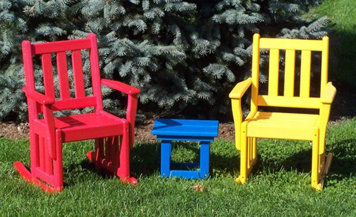 Amish Poly Wood Mission Child's Rocking Chair