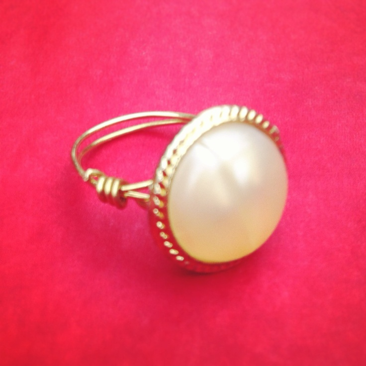 Vintage Pearl Statement Ring