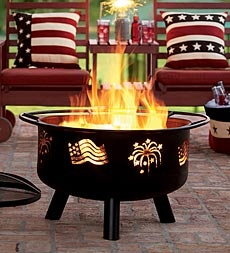 wonderful pillows and hearth: Diy Ideas, Fire Pits, Fire Place, 4Th Of July Red White Blue, 4Th July, Porch Overlooking, Craft Ideas