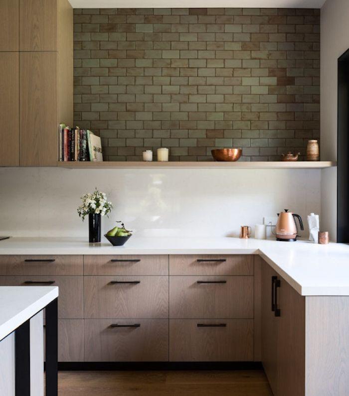 1001 astuces et id es pour am nager une cuisine en l cuisine cuisine bois cuisine - Amenager une cuisine en l ...